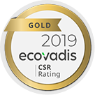 Gold 2019 Ecovadis - CSR Rating